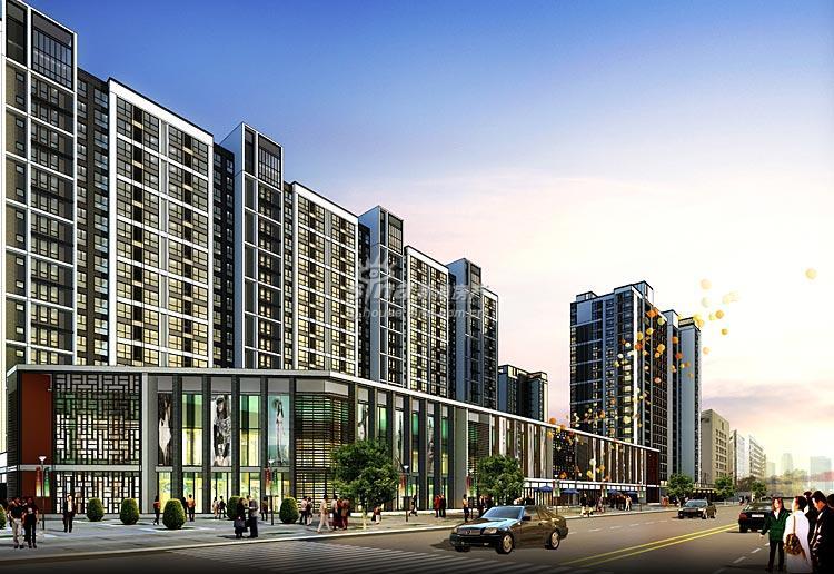 禧福汇国际社区临街独立商铺 效果图 南磨房路商业c1立面
