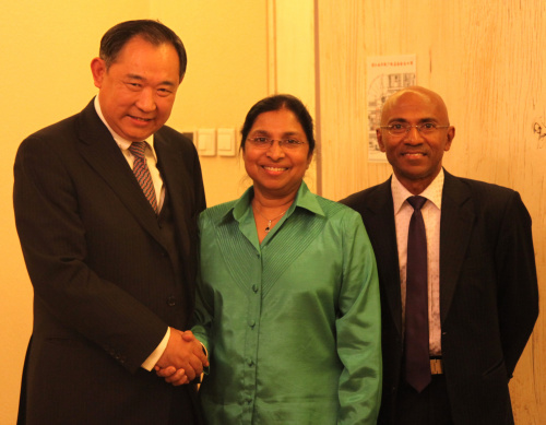 CWPF Chairman Li Ruohong talked with Maldives health minister