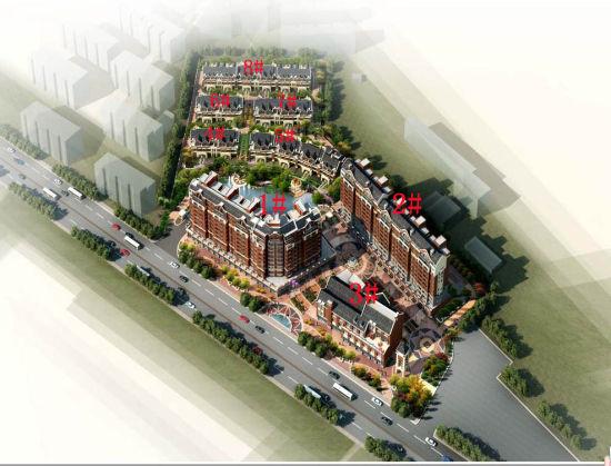 中北英郡_中北英郡共规划9幢 为高层和别墅