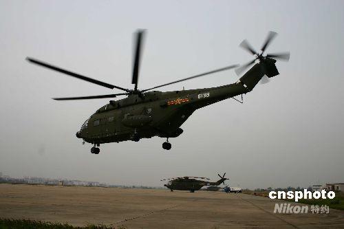 解放军陆航部队出动直升机90架次抗震救灾(图)