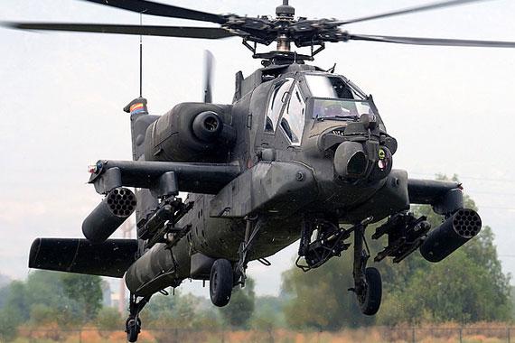 资料图:美军将售台AH-64阿帕奇攻击直升机