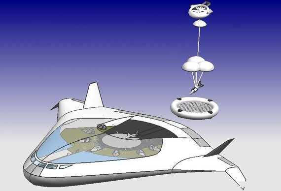 无人机空中发射/回收/补给平台