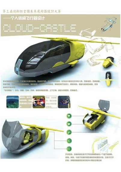 第三届创新杯飞行器设计大赛获奖作品--个人休闲型飞行器