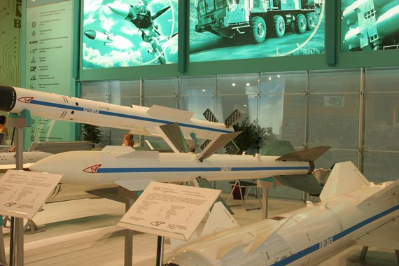 Russian-made R-27P long-range air to air missiles