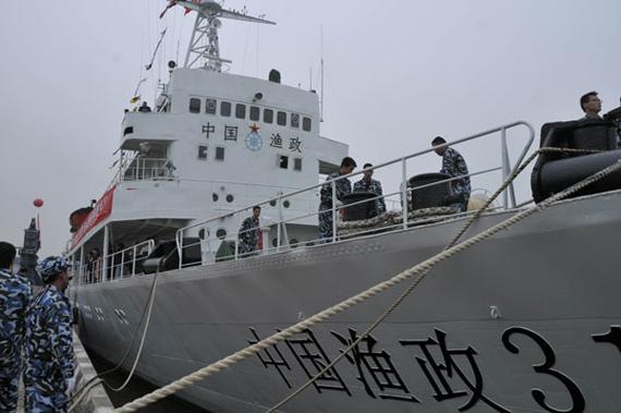 中国大型渔政船开赴南海