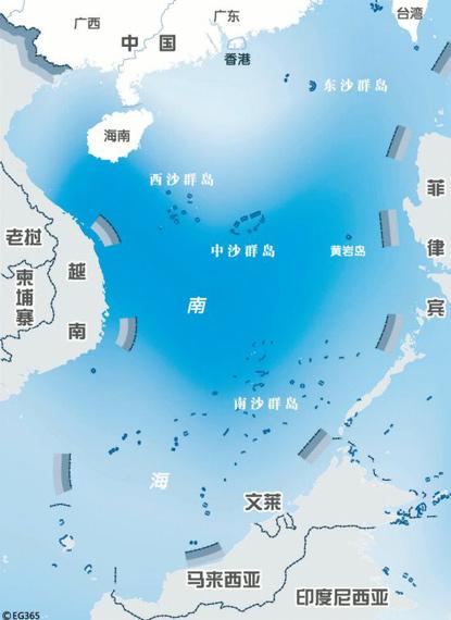 资料图:南海诸岛地理位置图