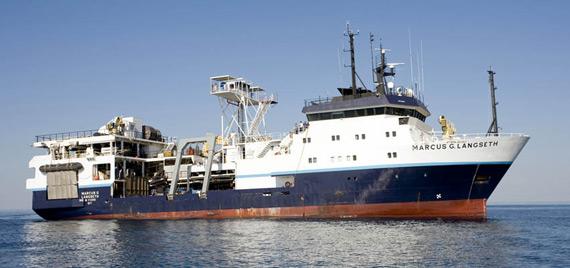 """资料图:美国""""马库斯・朗塞特""""号海洋考察船"""