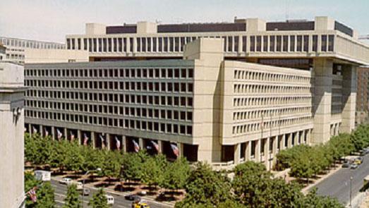 """美国情报机构是炮制""""中国间谍案""""的推手之一。图为联邦调查局总部大楼"""