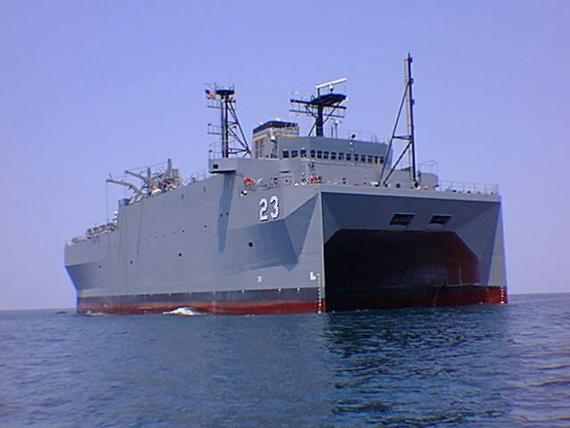 资料图:美国海军无暇号可利用音波探测器来侦测及追踪潜艇等目标