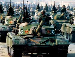 1999 National Day military a new generation of tanks made its debut 。