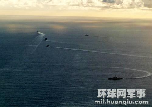 中国海军舰艇编队6月远航进入太平洋(图片:日本朝云新闻社)
