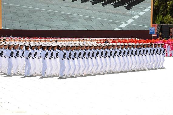 国庆阅兵水兵方队