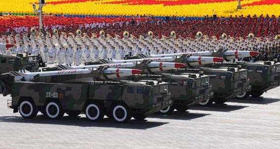 二炮部队东风15B战术导弹