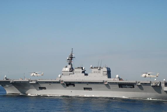 已经服役的日本国产DDG181日向号准航母