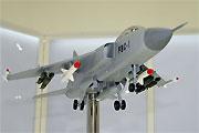 国产飞豹战机模型亮相北京航展