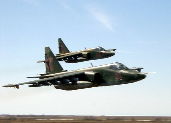 Data for: Russian Su - 25 frog foot fighters