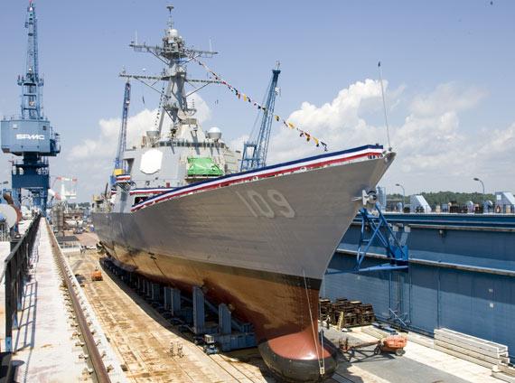 """美国国防部只批准海军2010年建造一艘""""阿利・伯克""""级驱逐舰"""