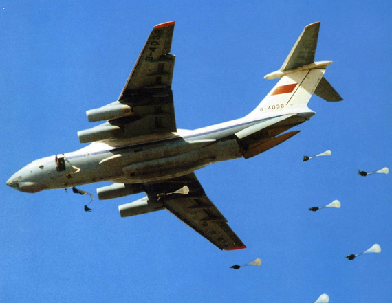 Data Figure: China Air Force IL-76 delivery of goods