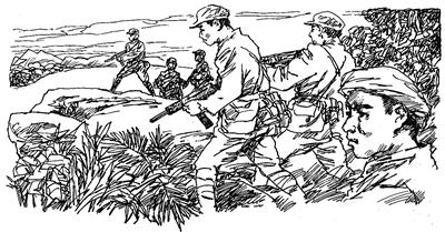 简单的手绘红军图片