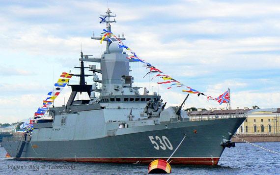 俄海军早先装备的试验型20380型隐身护卫舰