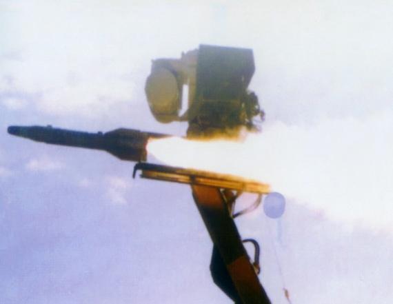 武直10专用红箭10反坦克导弹试射