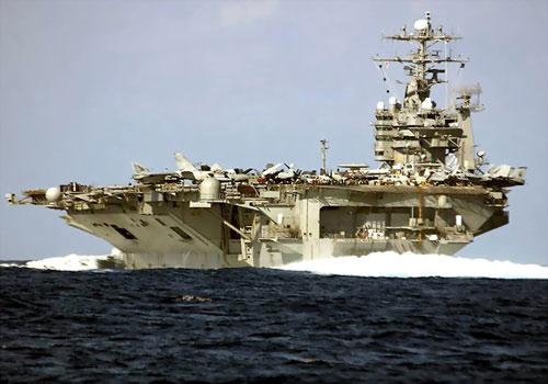 资料图:美国海军华盛顿号航母