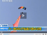 八一跳伞队空中演练备战珠海航展