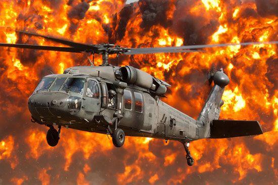 资料图:美军UH-60黑鹰直升机