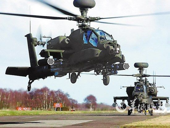 US-made Apache attack helicopters