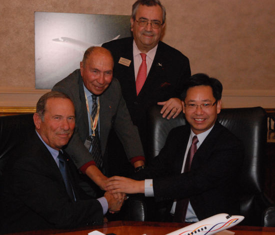民生金融租赁签署协议订购20架达索猎鹰商务机