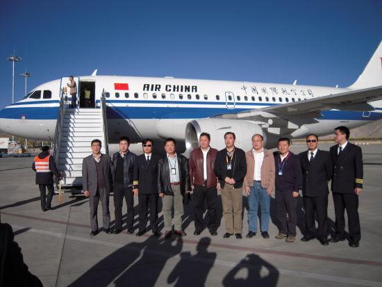 ar试飞科目的国航b6223号空中客车a319飞机显得格外