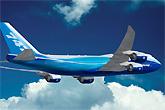 波音747-8客机飞行示意图