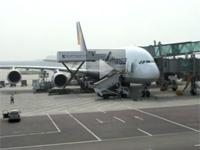 新浪航空报道团队乘汉莎380赴航展