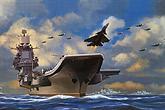 瓦良格航母战斗群想像图