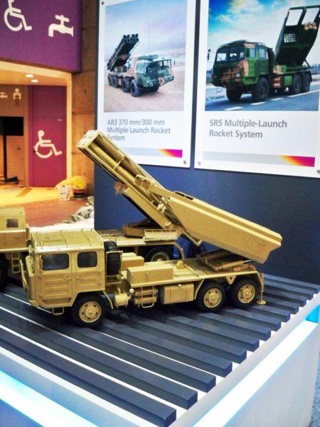 资料图:中国SR-5模块化火箭炮系统模型。
