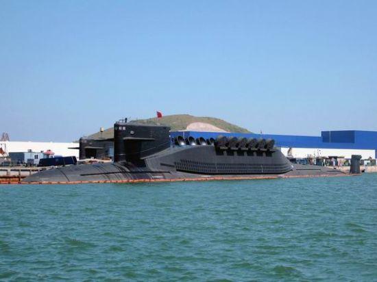 资料图:网上的094核潜艇照片
