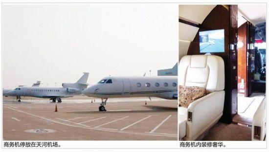 首次见到这么多私人飞机同时停放在天河机场