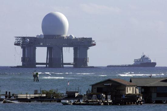 资料图:美国军方的海基X波段雷达。