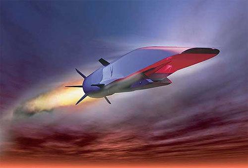 JF12高超声速激波风洞专门针对五倍音速以上的超高速飞行器试验。图为美国X-51高超音速飞行器。