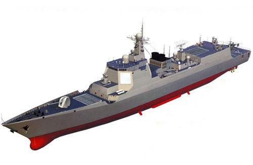 中国海军052D型驱逐舰想象图