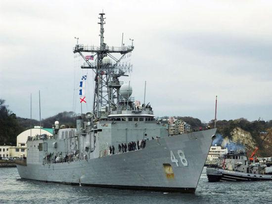 """美军""""范德格里夫特""""号导弹护卫舰"""