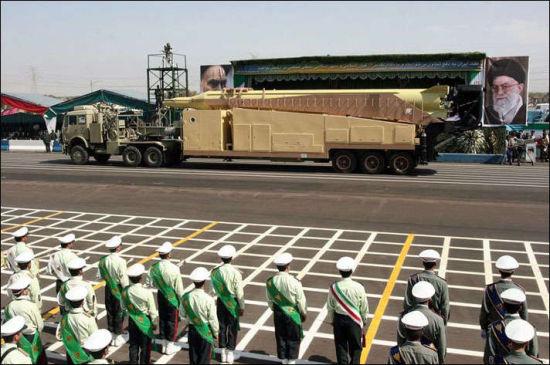 资料图:伊朗流星-3导弹。