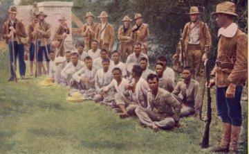 被美军俘虏的菲律宾起义者