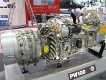 美国普-惠公司PW100航空发动机模型