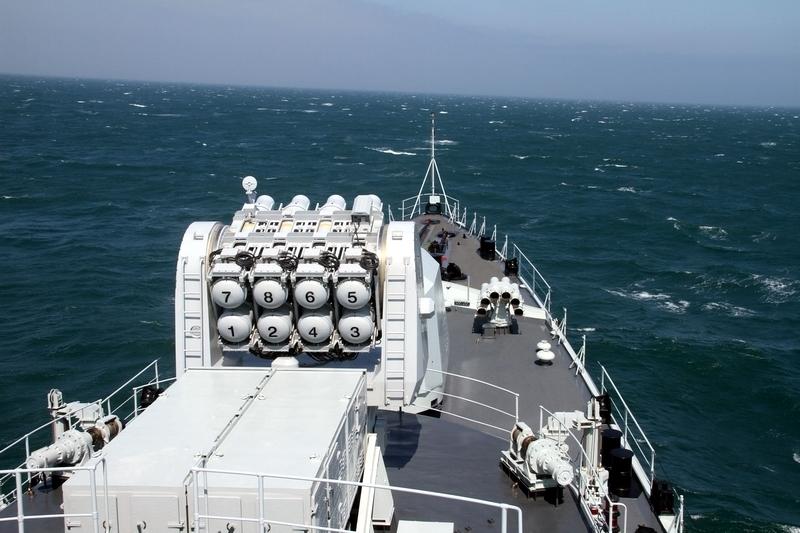 中俄海上保交作战演练结束