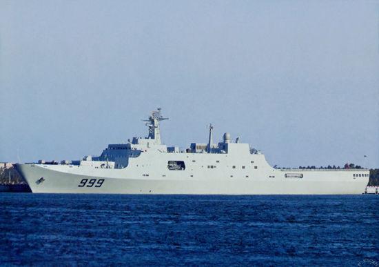 """中国海军071级船坞登陆舰2号舰""""井冈山""""号"""