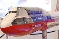 波音747-8飞机模型剖面特写