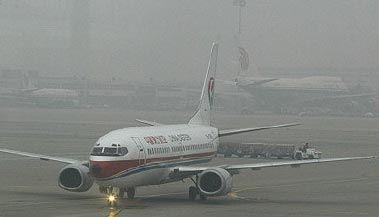 大雾天气影响飞机起降