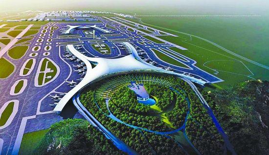 重庆江北国际机场t3a航站楼方案效果图.市规划局供图