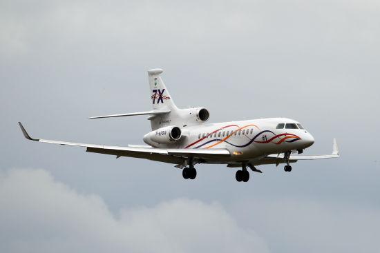 中国现已成为猎鹰7X商务机全球第二大市场。(摄影:陈诚 版权所有 不得转载)